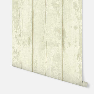 Washed Wood Cream & Green