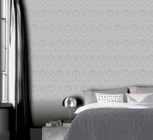 Luxe Damask Silver