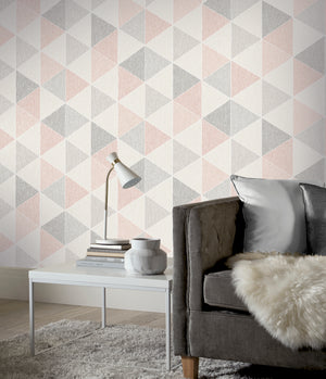 Scandi Triangle Pink