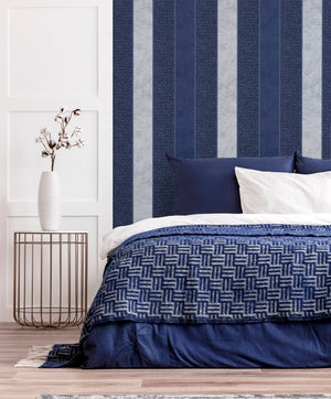 Calico Stripe Navy