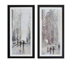 Stretch City Scenes Framed Prints set two