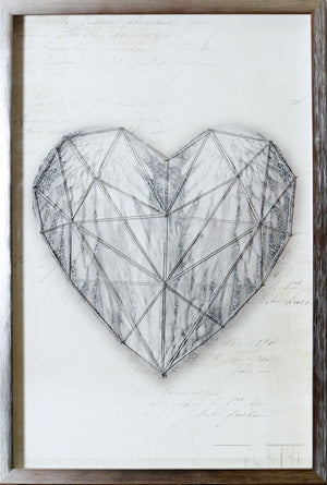 Heart String 3D Framed Print