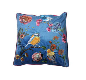 Palatial Birds Embroidered Cushion