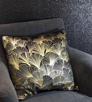 Gold Ginkgo Velvet Cushion