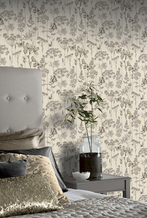 Meadow Floral Charcoal & Ochre