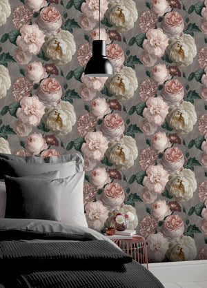 Highgrove Floral Warm Grey