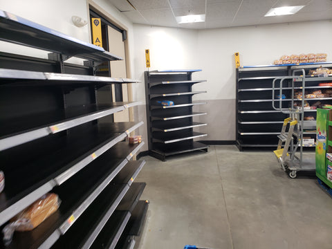Empty shelves due to COVID-19 Coronavirus.