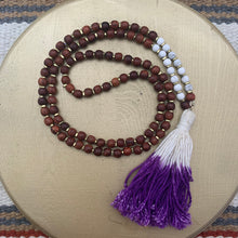 Load image into Gallery viewer, Small Rosewood Mala with Purple Dip Dyed Tassel
