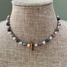 Load image into Gallery viewer, Picasso Jasper and Freshwater Pearl Choker
