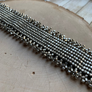 Wide Silver Beaded Choker