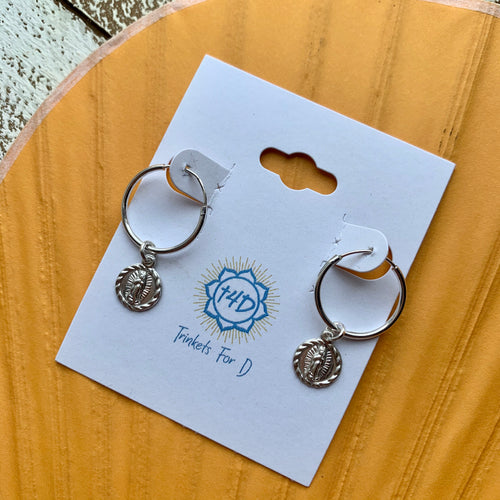 Virgen de Guadalupe Sterling Silver Small Hoop Earrings