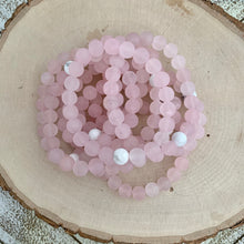 Load image into Gallery viewer, Matte Rose Quartz with Single White Howlite Women's Bracelet