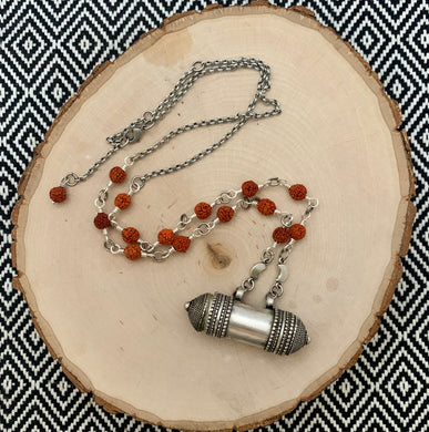 Jantar Box (Prayer Holder) Bodhi Seed Necklace