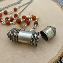 Load image into Gallery viewer, Jantar Box (Prayer Holder) Bodhi Seed Necklace