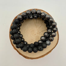 Load image into Gallery viewer, Lava and Gunmetal Plated Lava Mens Bracelet