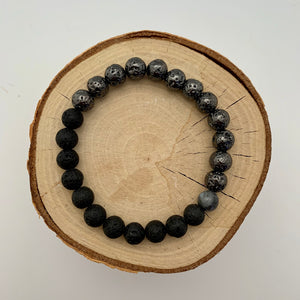 Lava and Gunmetal Plated Lava Mens Bracelet