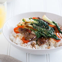 Bok Choy Stir Fry with Beef and Oyster Sauce