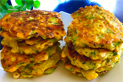 Fresh Sweetcorn & Zucchini Fritters