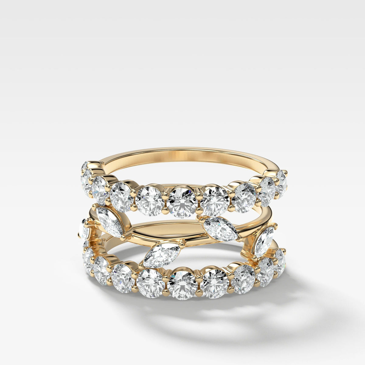 Good Stack no. 1 in Yellow Gold by Good Stone