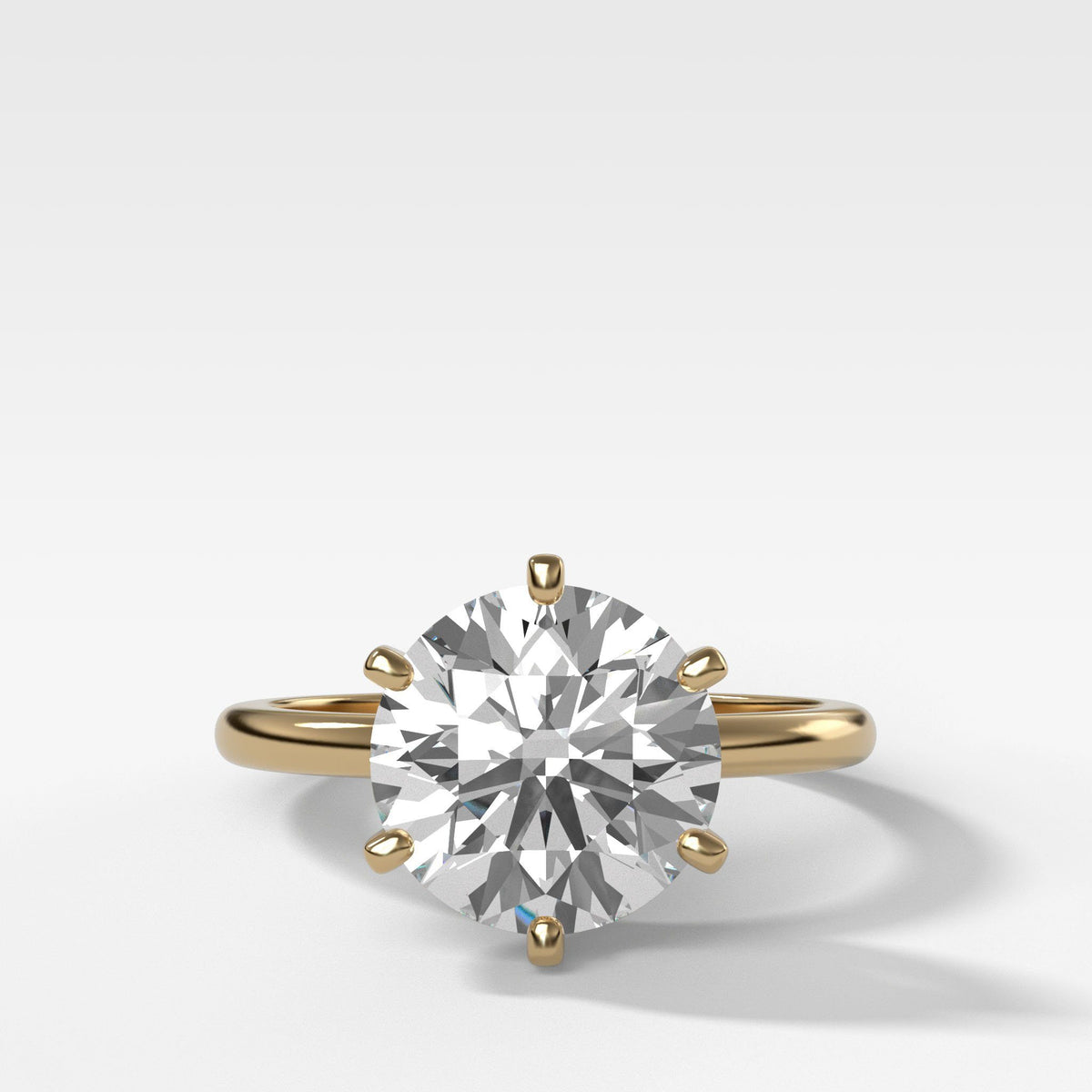 Nova Solitaire In Yellow Gold By Good Stone