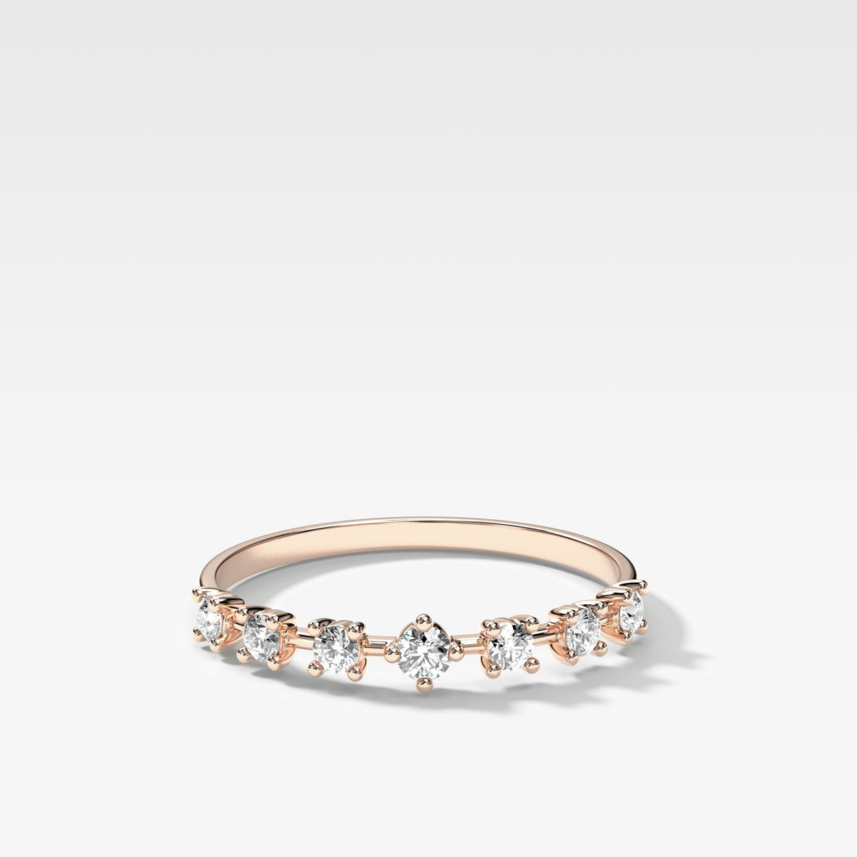 Starburst Diamond Stacker In Rose Gold By Good Stone