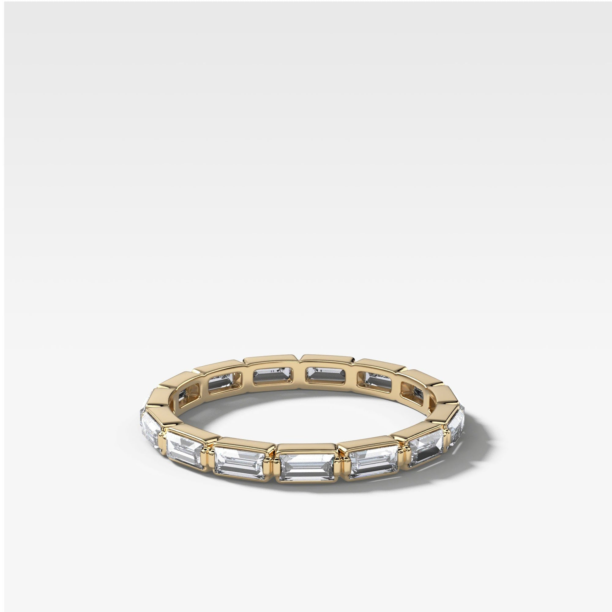 Iris Eternity Baguette Band In Yellow Gold By Good Stone