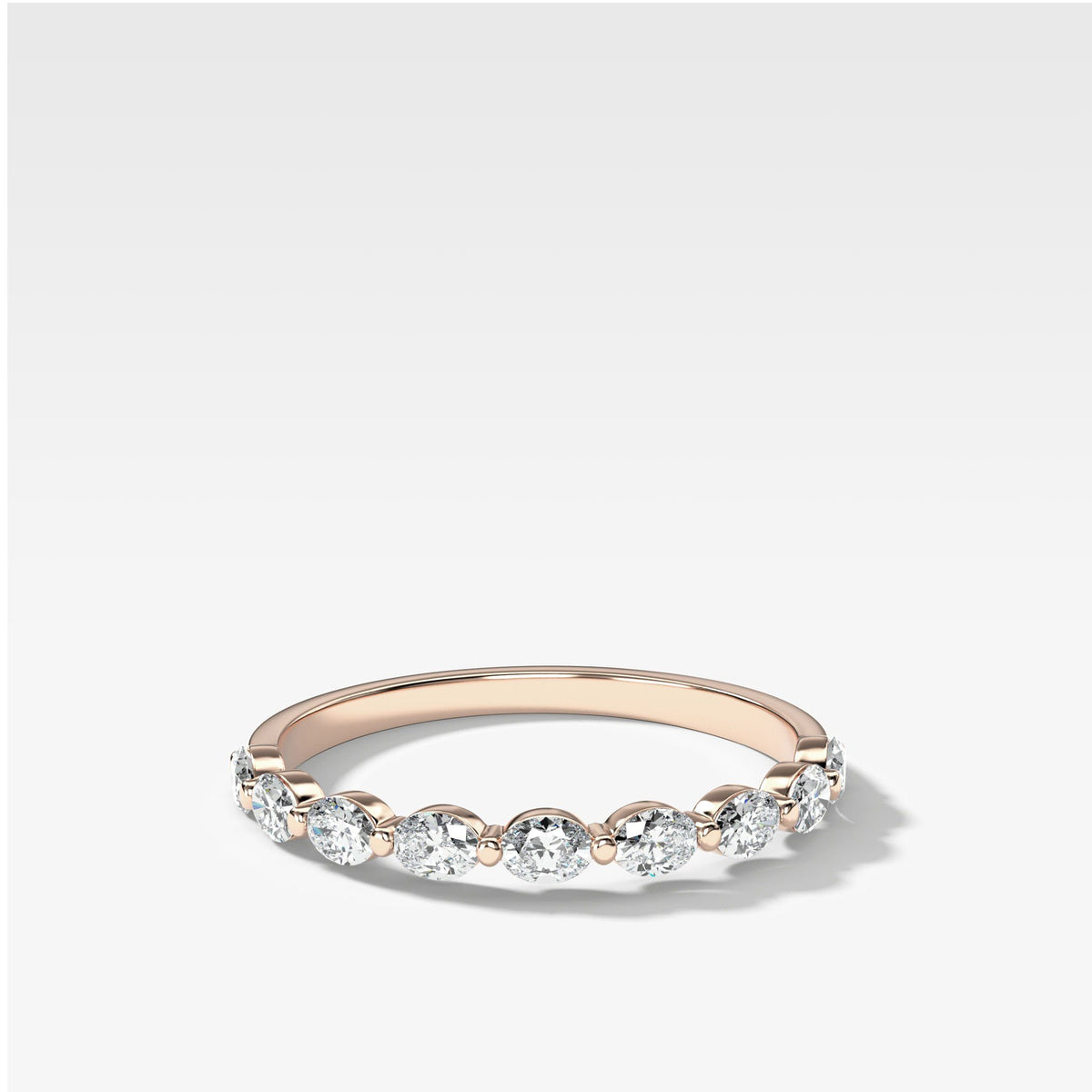Oval Interstellar Wedding Band In Rose Gold By Good Stone