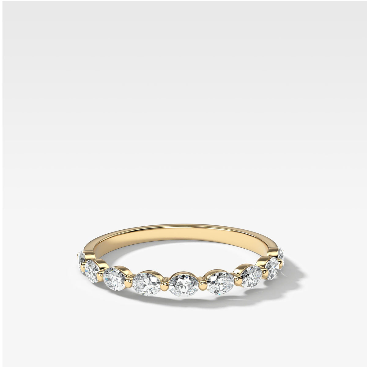 Oval Interstellar Wedding Band In Yellow Gold By Good Stone