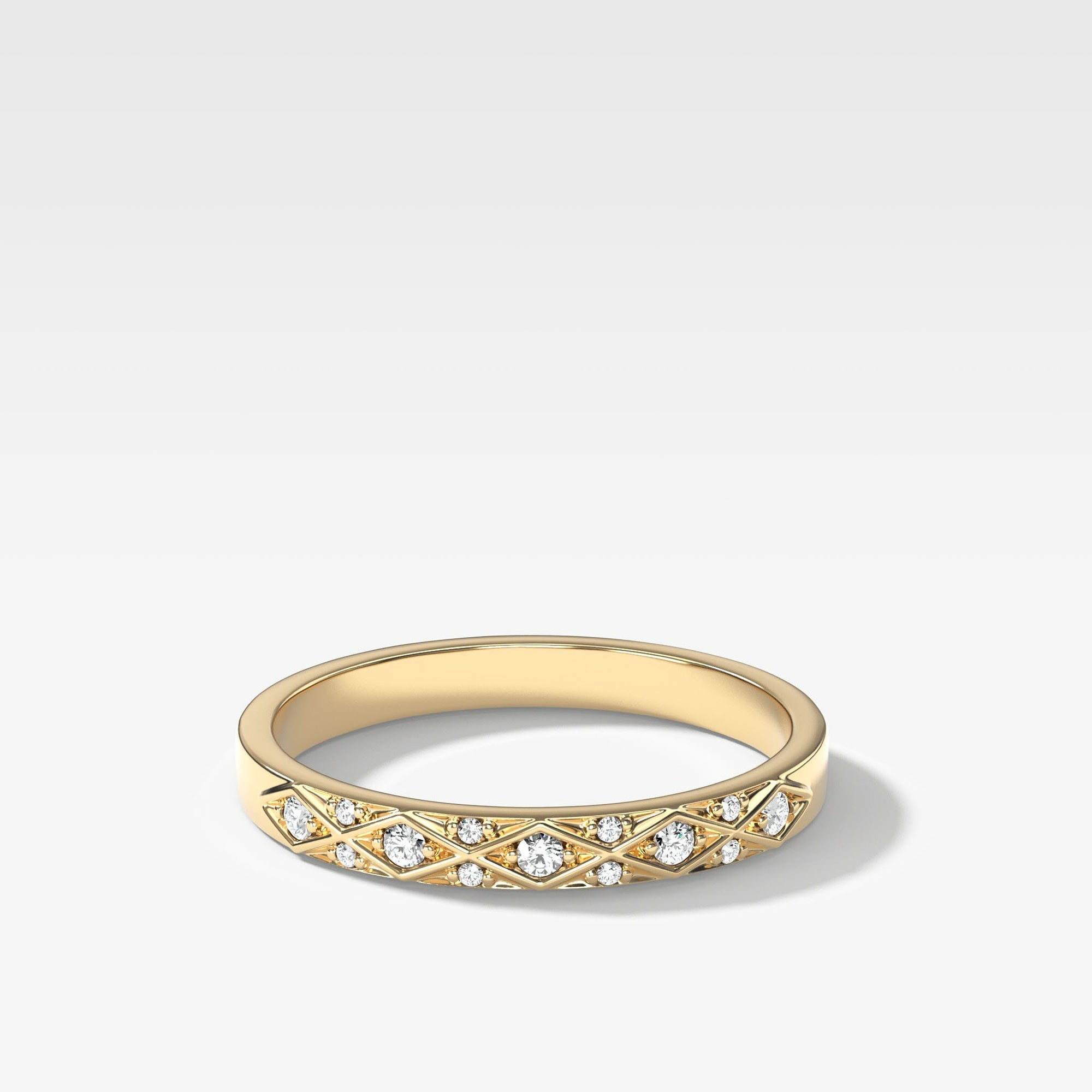 Diana Diamond Band In Yellow Gold By Good Stone