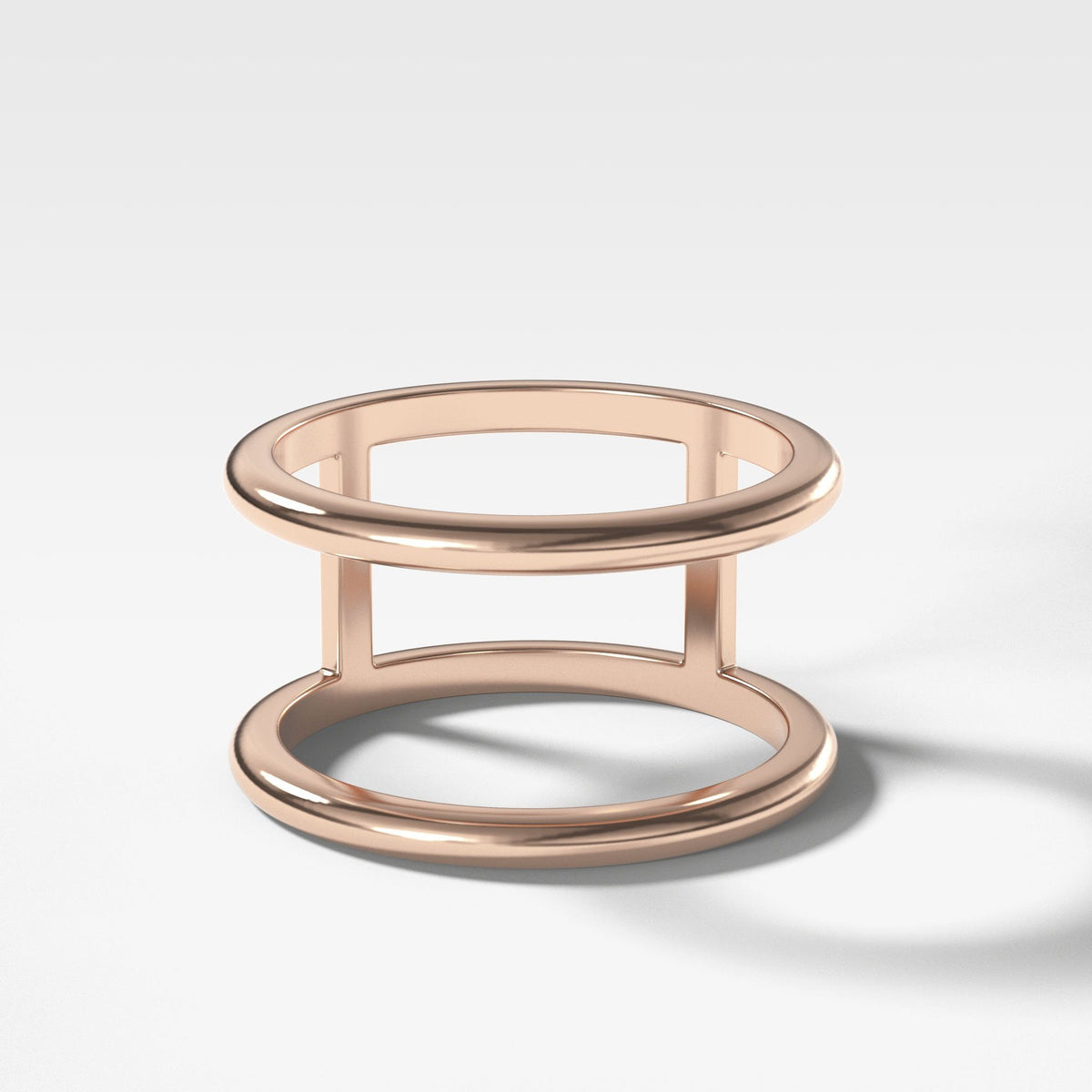 Gap Stacker In Rose Gold By Good Stone