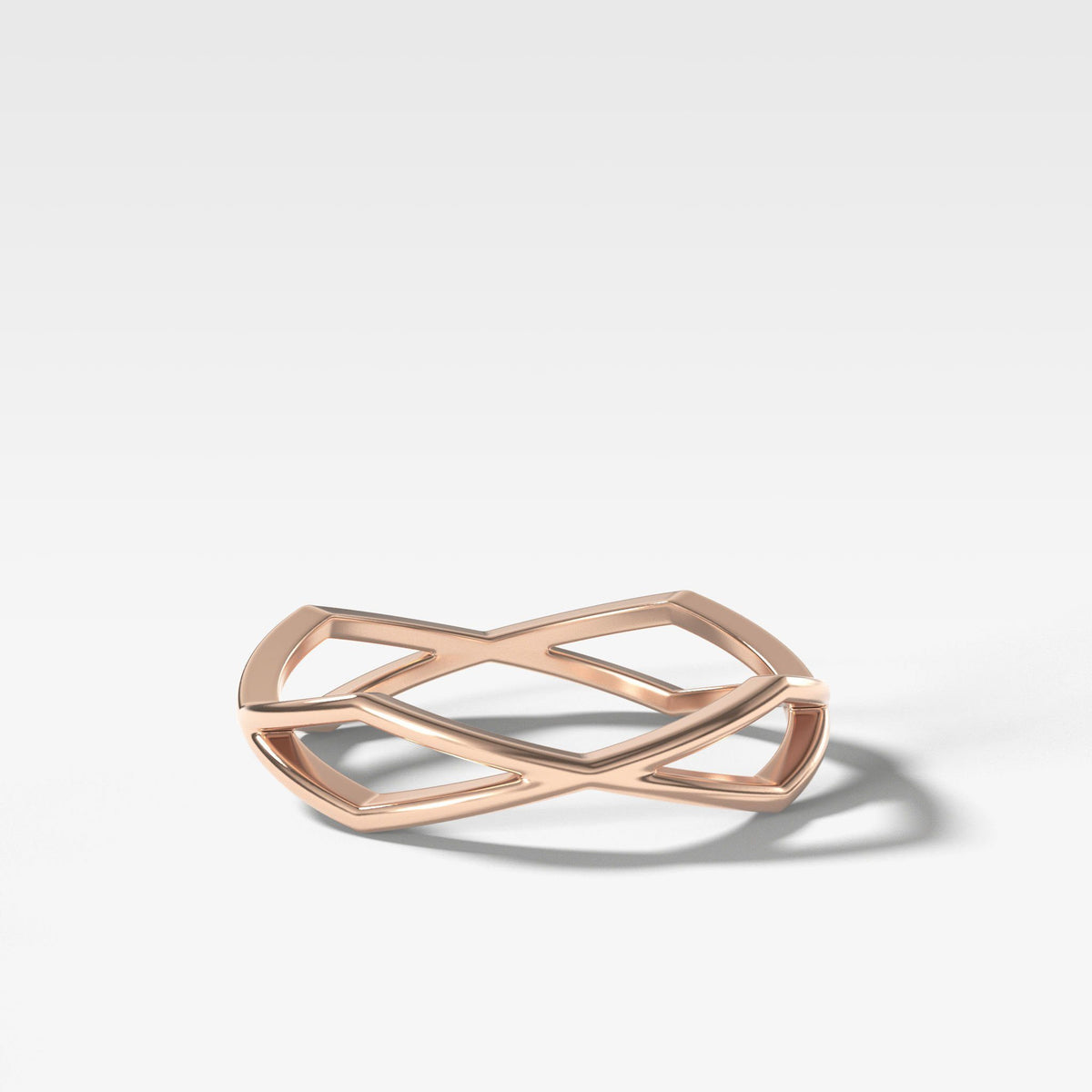 Geometric Eternity Band In Rose Gold By Good Stone