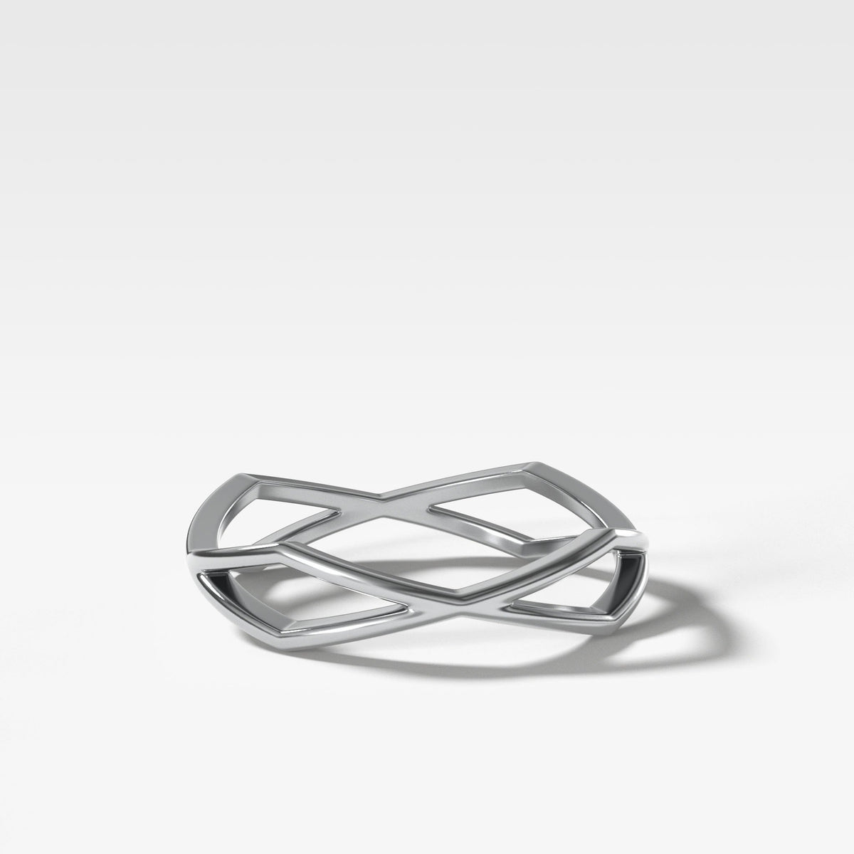 Geometric Eternity Band In White Gold By Good Stone