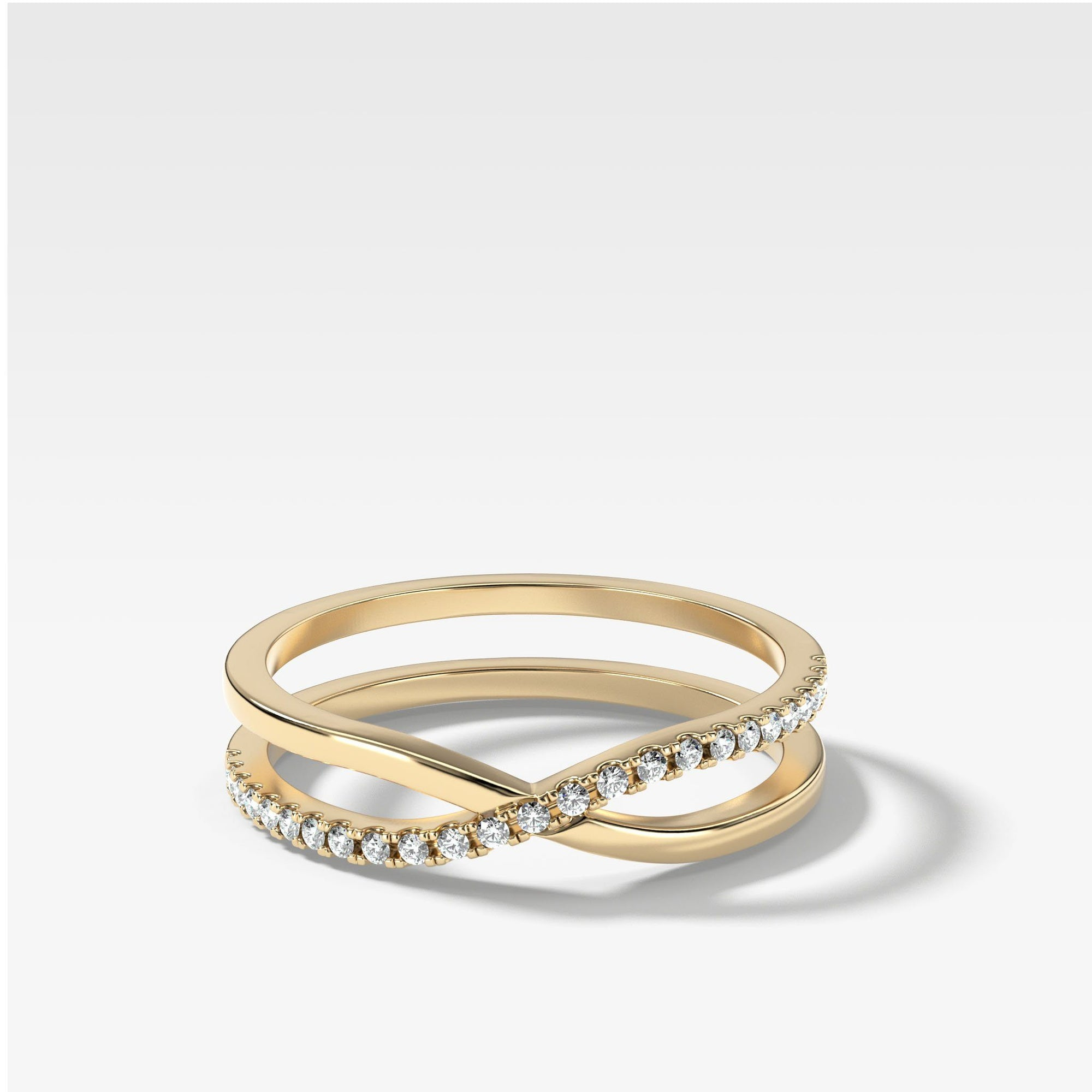 Parallax Band In Yellow Gold By Good Stone