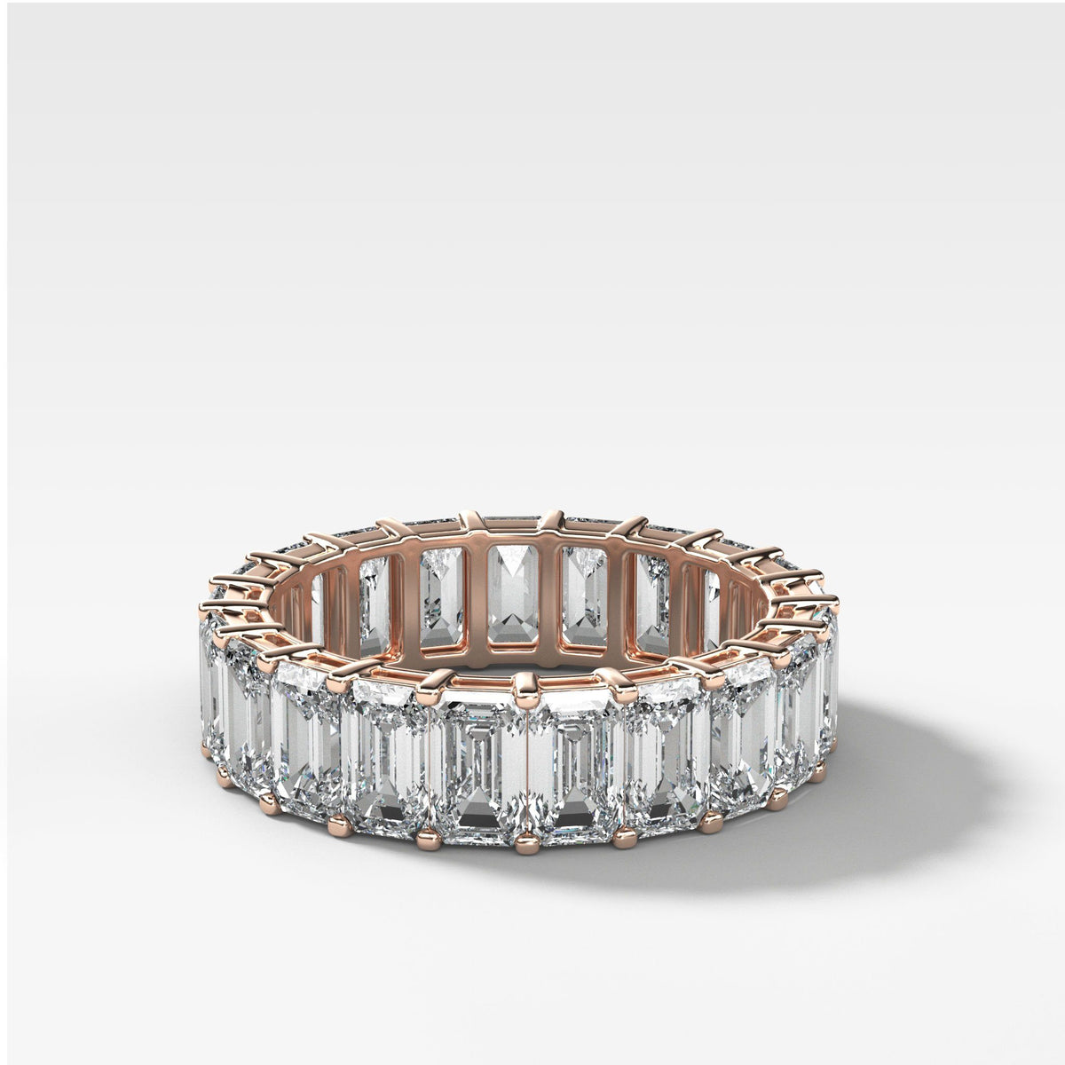 Emerald Cut Constellation Eternity Band available in Rose Gold by Good Stone