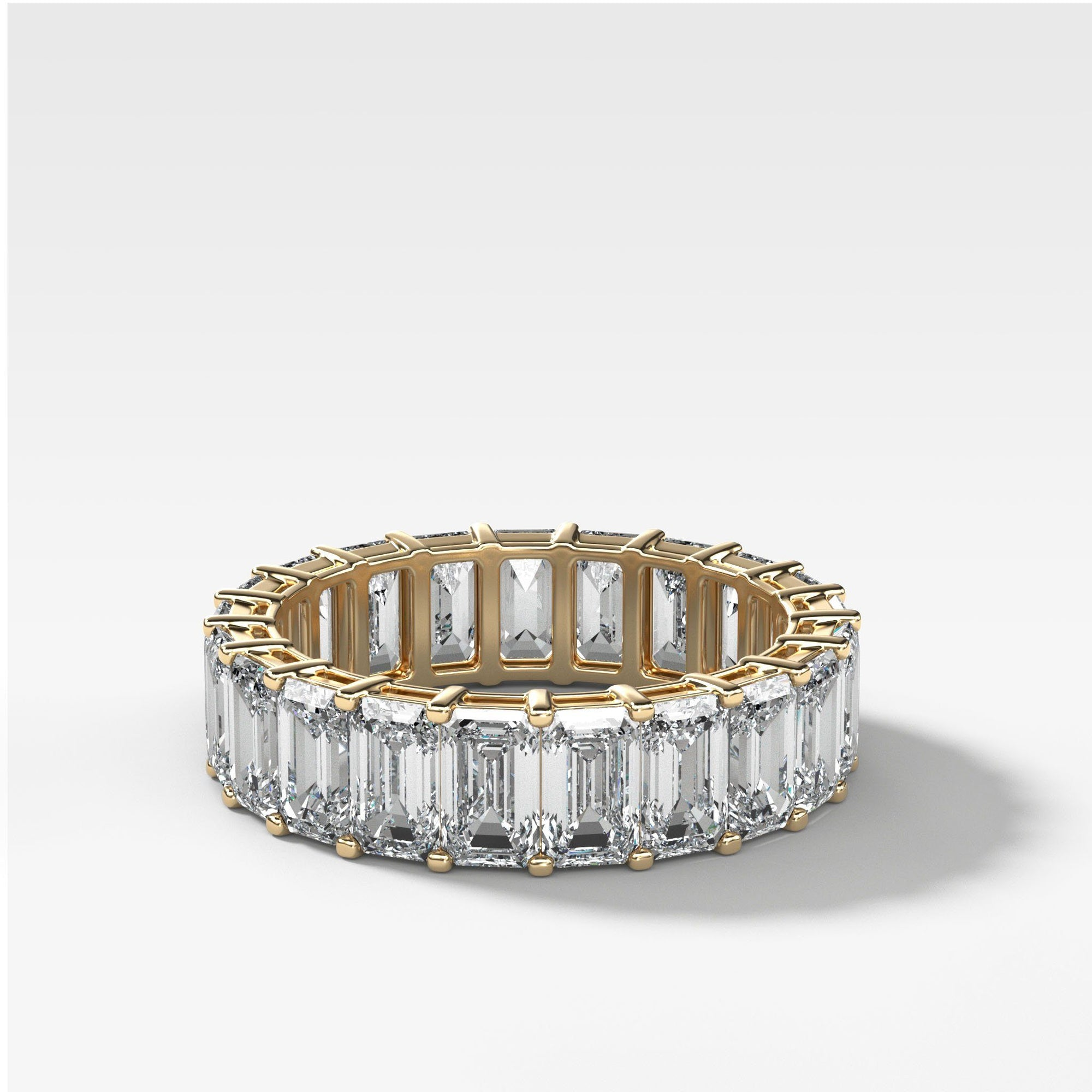 Emerald Cut Constellation Eternity Band available in Yellow Gold by Good Stone
