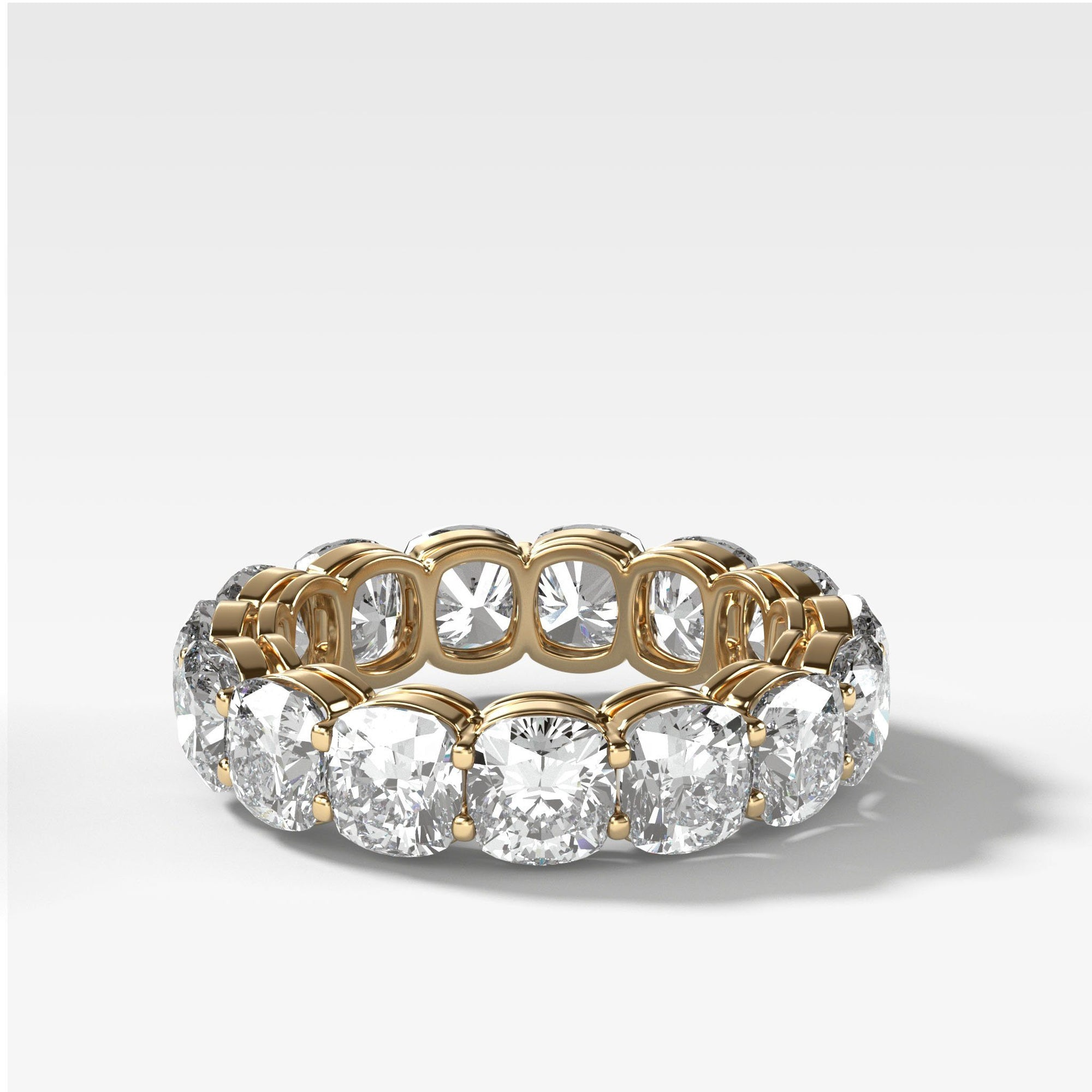 Cushion Cut Constellation Eternity Band in Yellow Gold by Good Stone