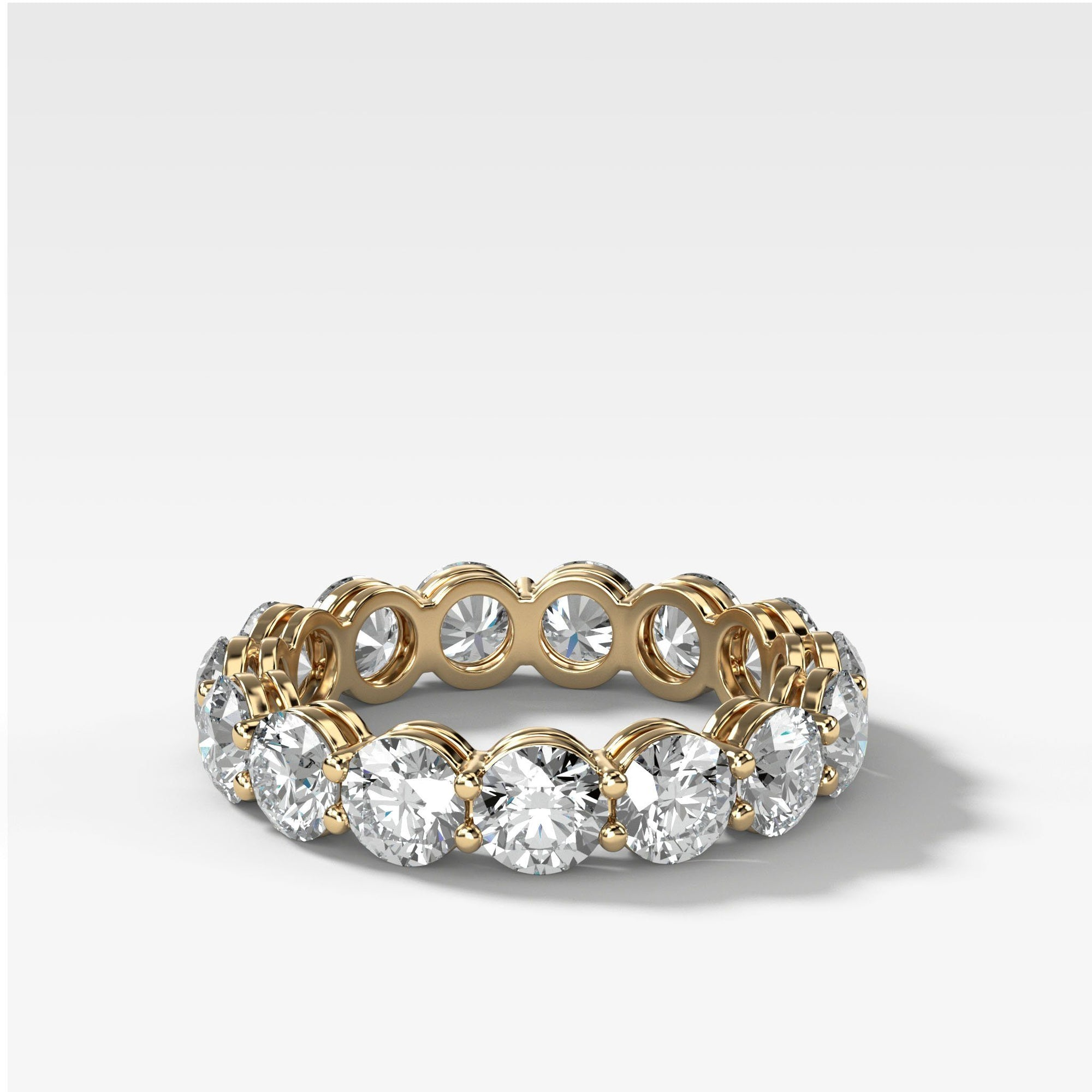 Round Constellation Eternity Band In Yellow Gold By Good Stone