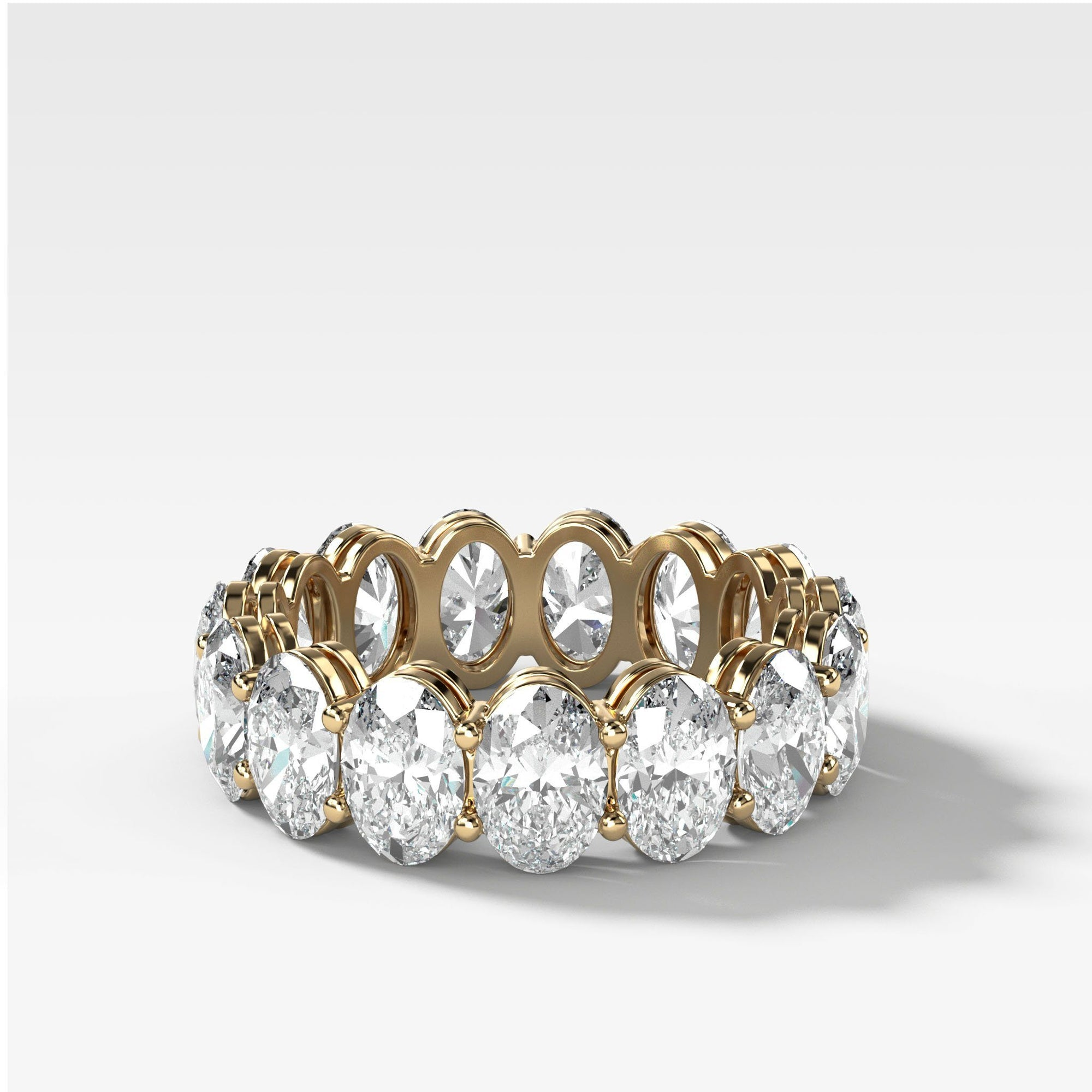 Oval Constellation Eternity Band In Yellow Gold By Good Stone