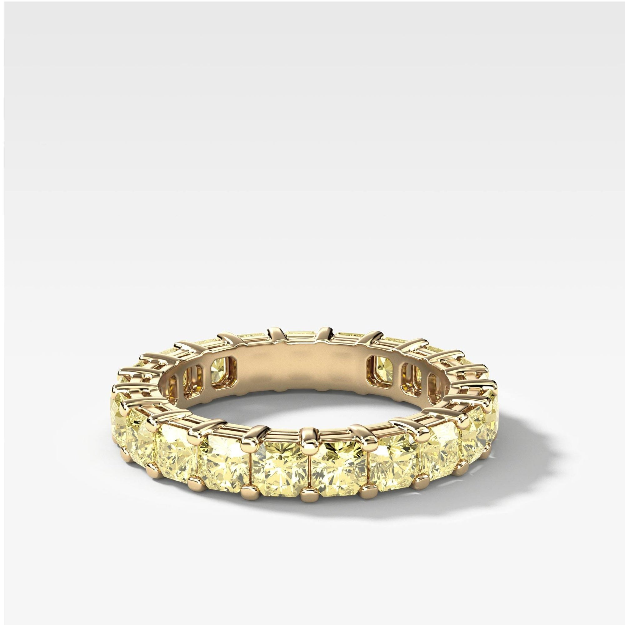 Yellow Radiant Cut Constellation Eternity Band In Yellow Gold By Good Stone