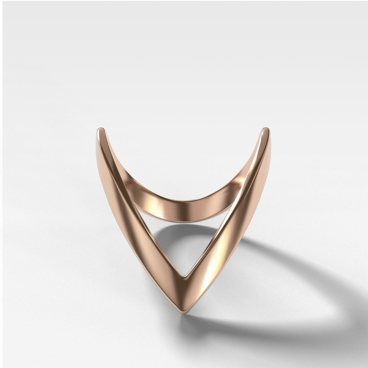 Chevron Band Rings Good Stone Inc Rose Gold 14k