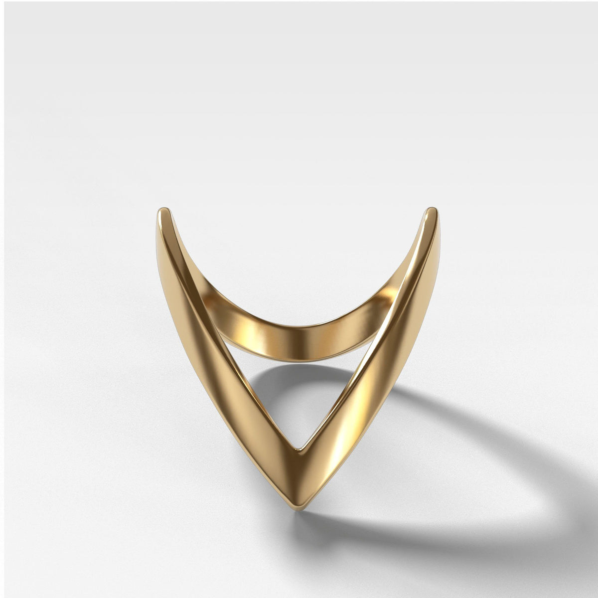 Chevron Band Rings Good Stone Inc Yellow Gold 14k