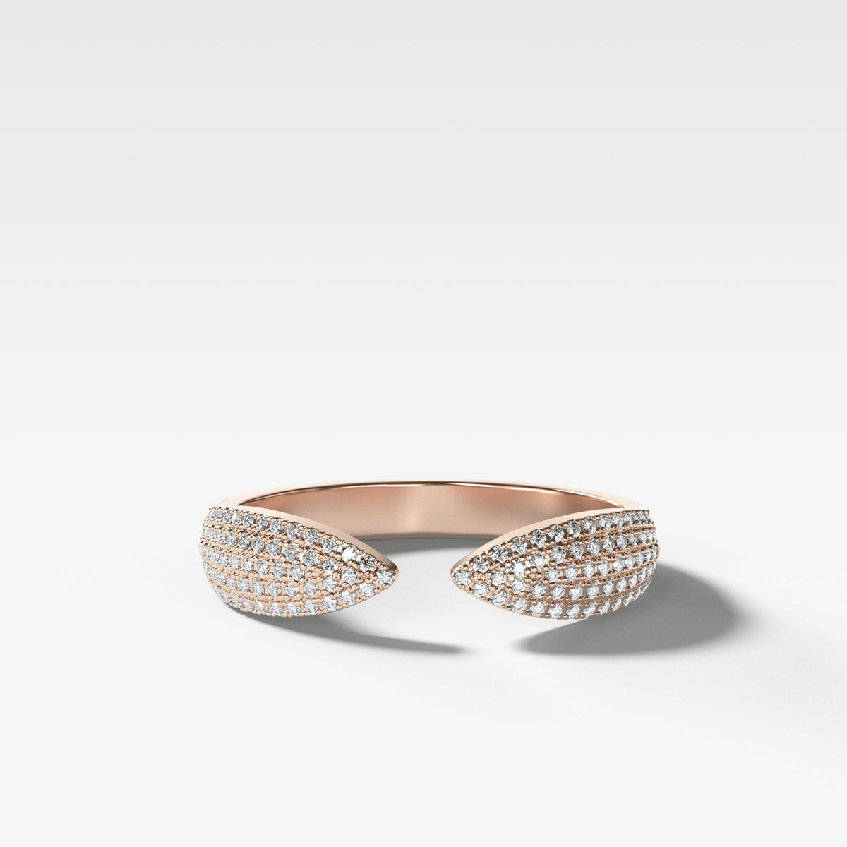 Pavé Finger Cuff Diamond Band available in Rose Gold by Good Stone