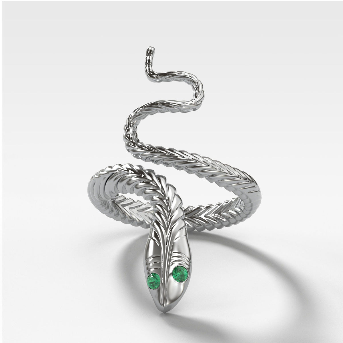 Snake Ring in White Gold by Good Stone