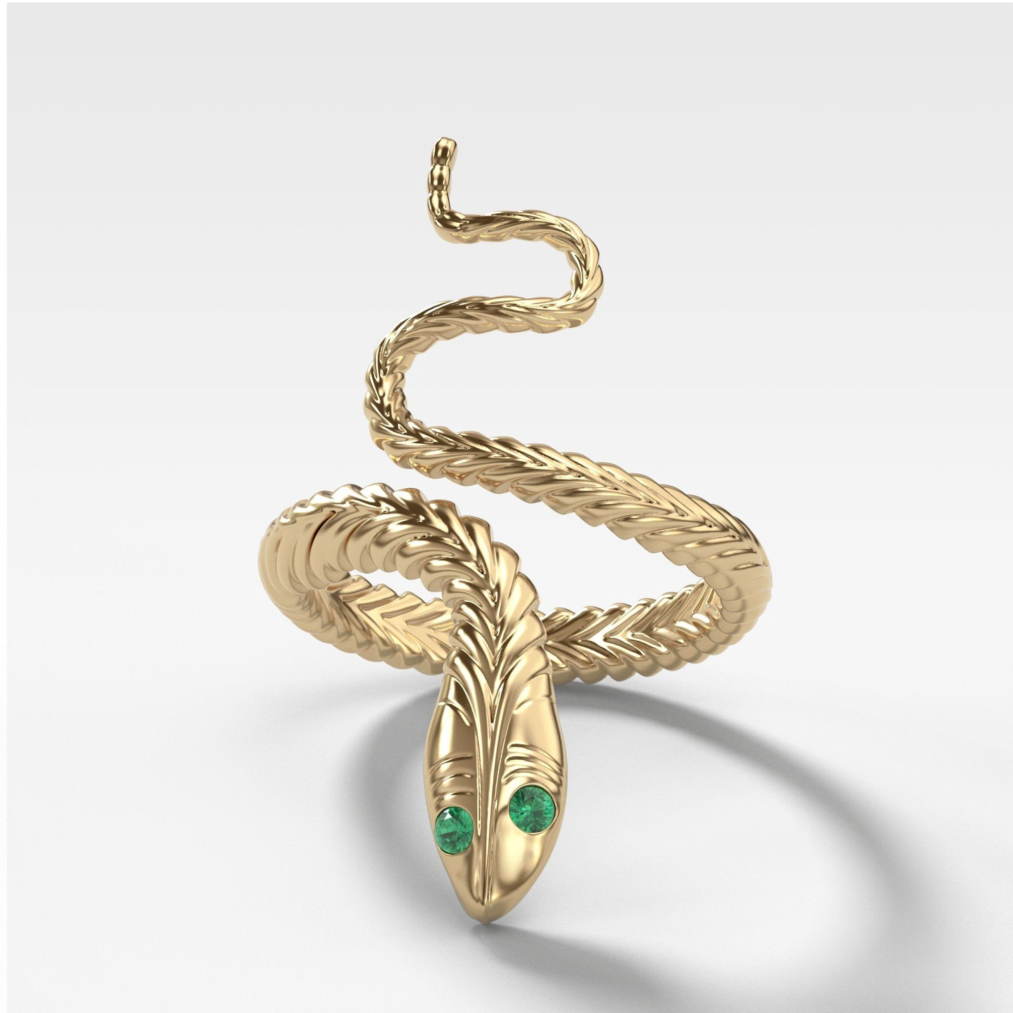 Snake Ring in Yellow Gold by Good Stone
