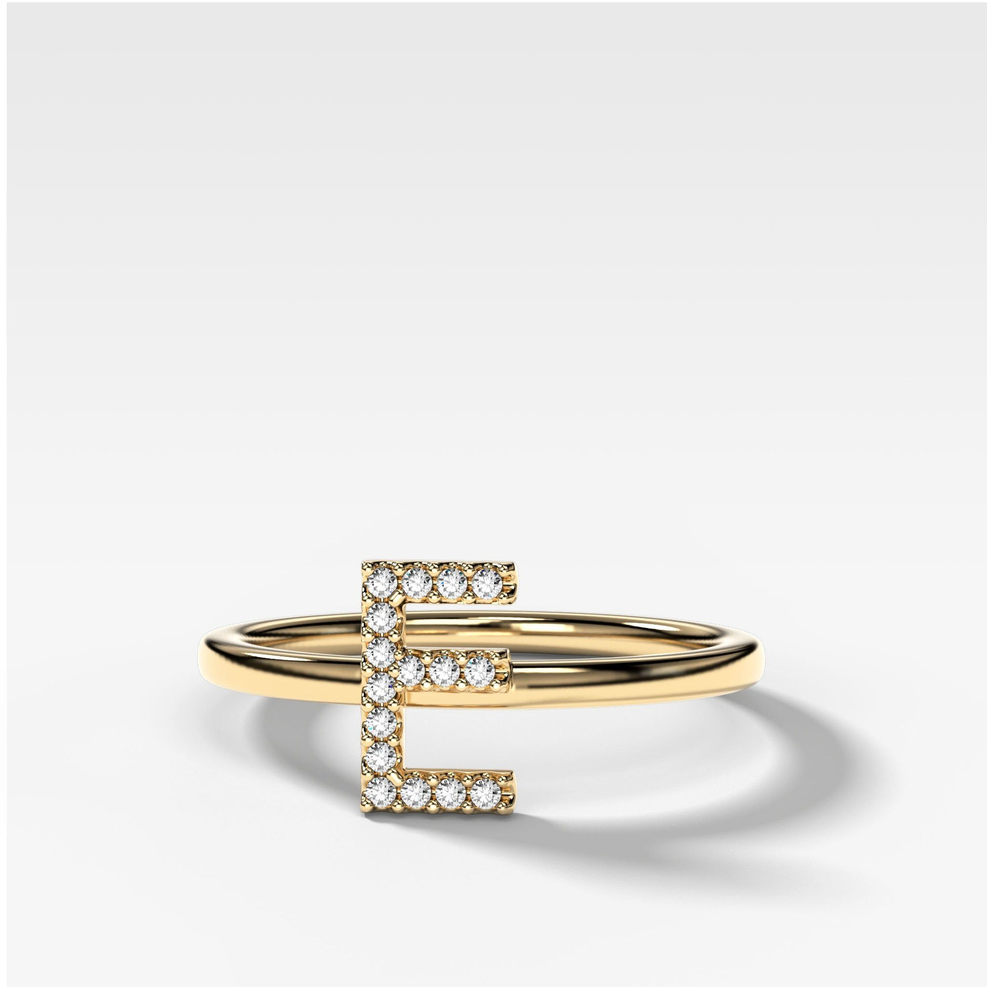 Initial Ring in Yellow Gold by Good Stone