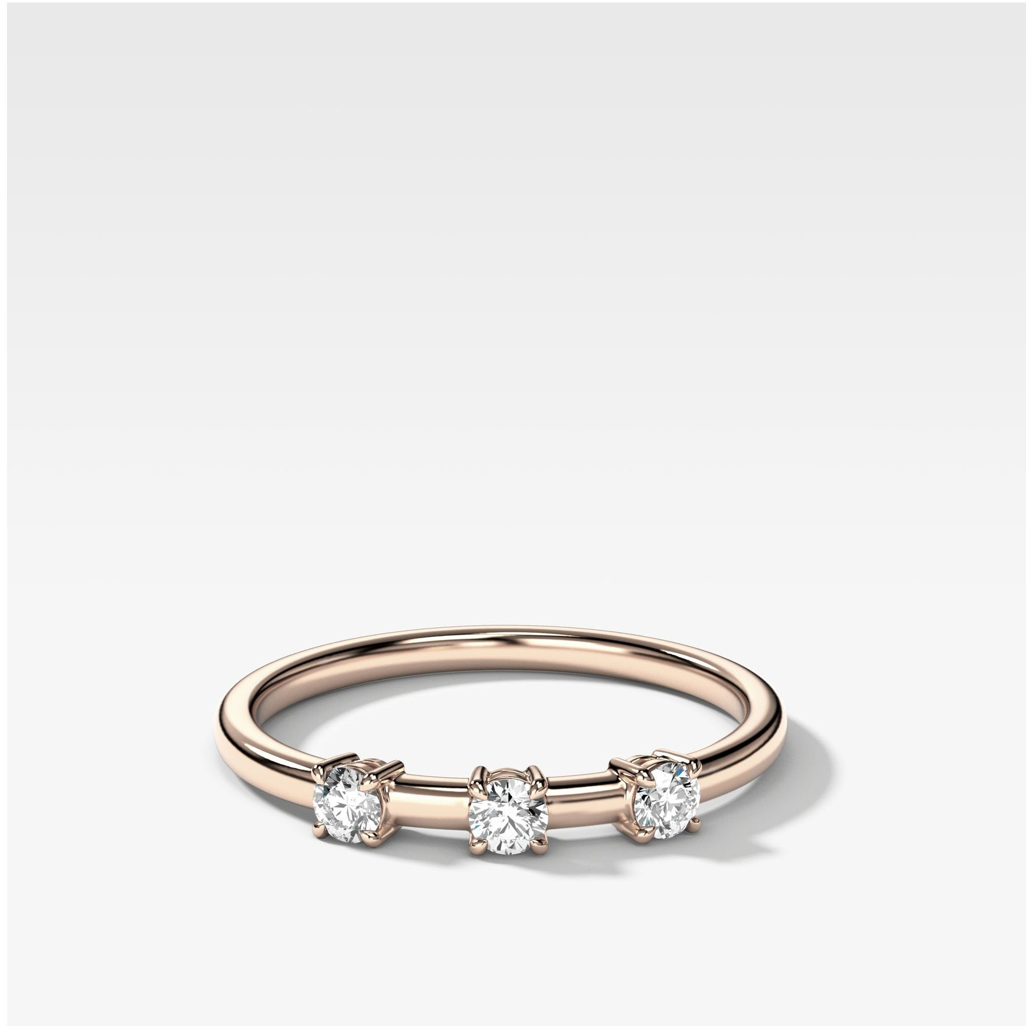 Claw Diamond Band: Trio Stackable Ring Rings Good Stone Inc