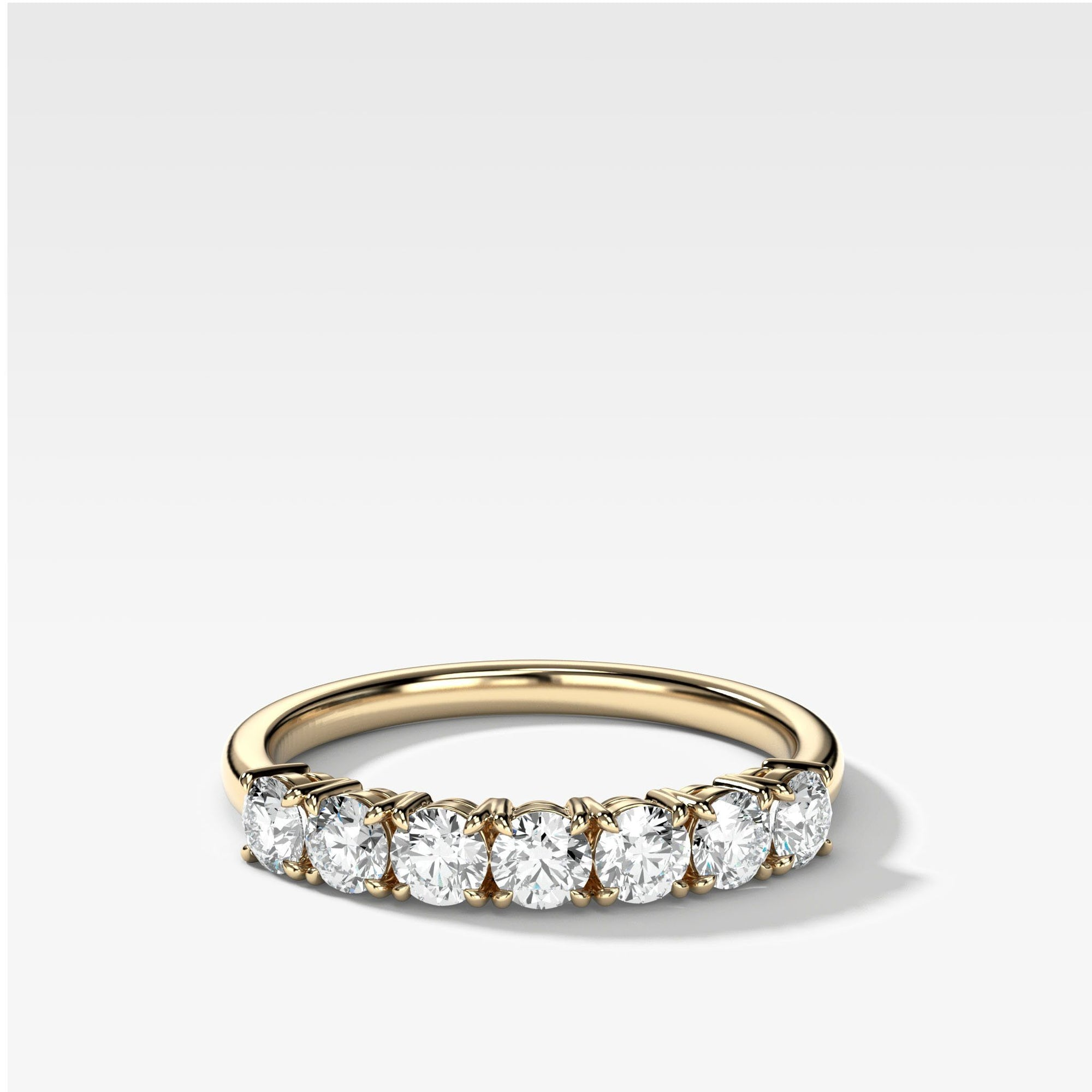 Claw Diamond Band: Standard Seven Stones available in Yellow Gold by Good Stone
