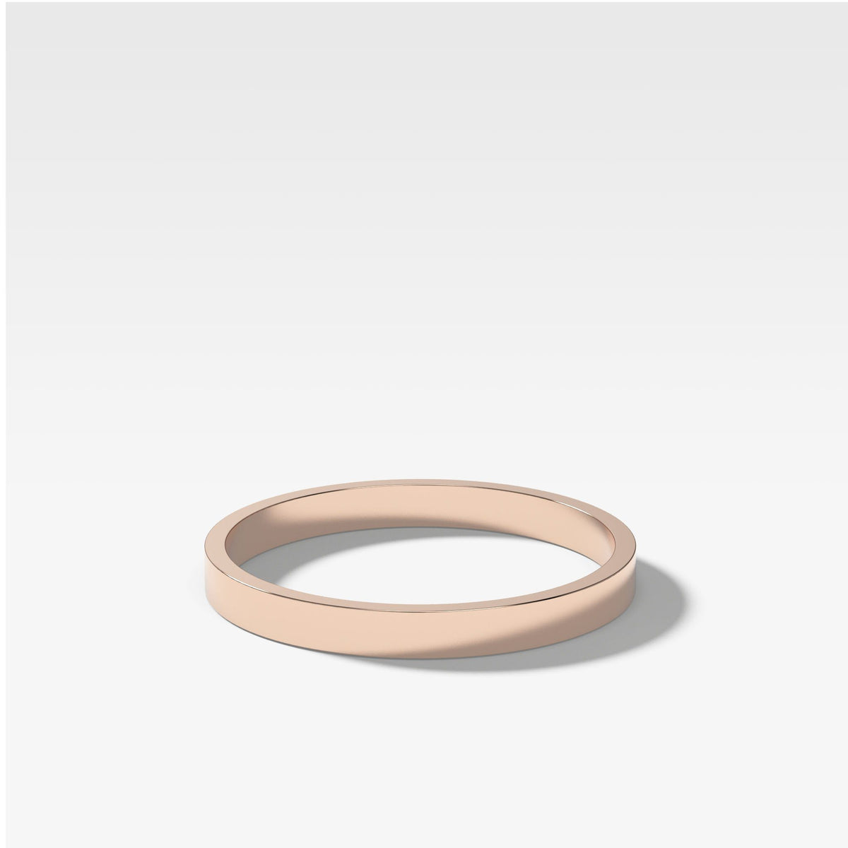 Finest Band (2Mm) In Rose Gold By Good Stone