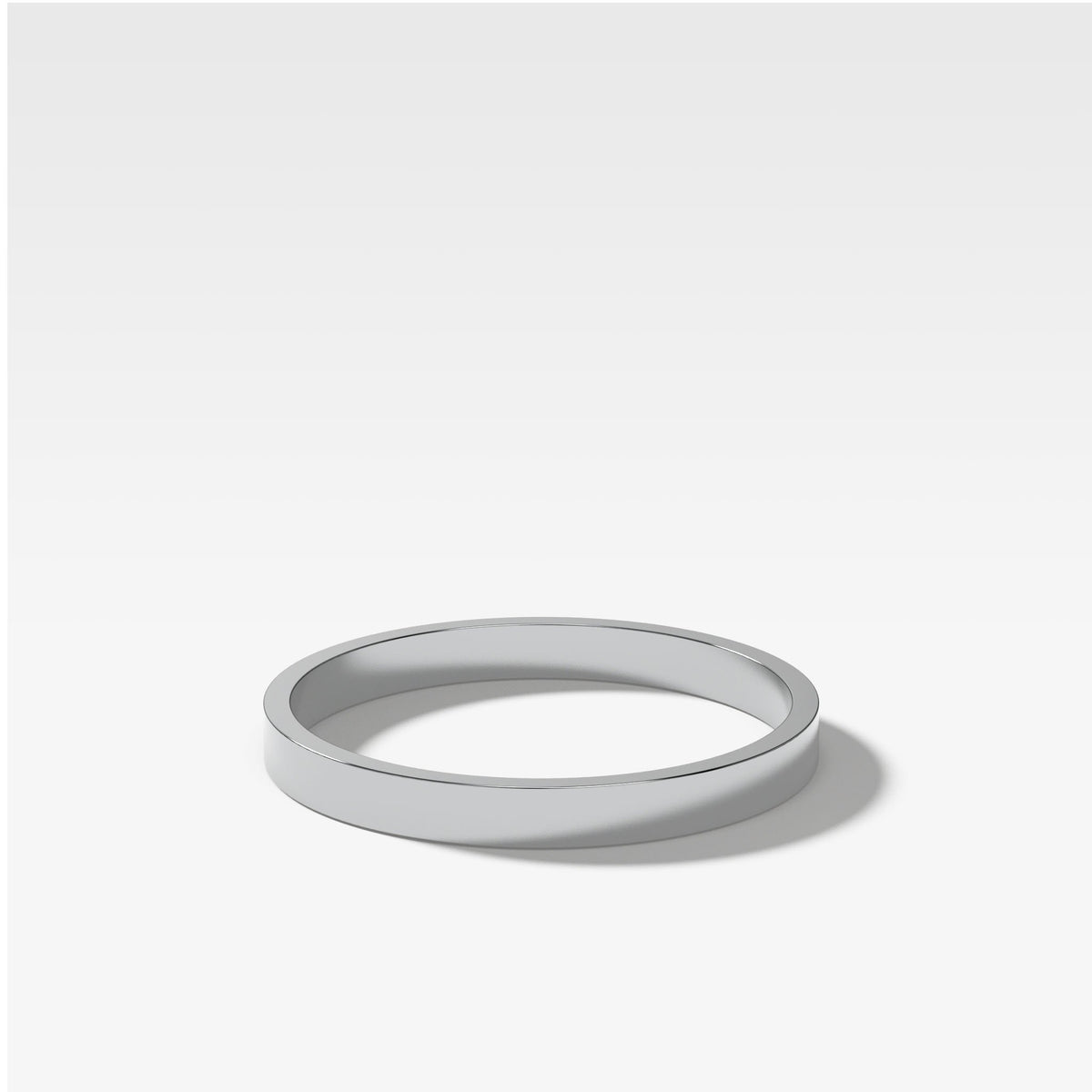 Finest Band (2Mm) In White Gold By Good Stone