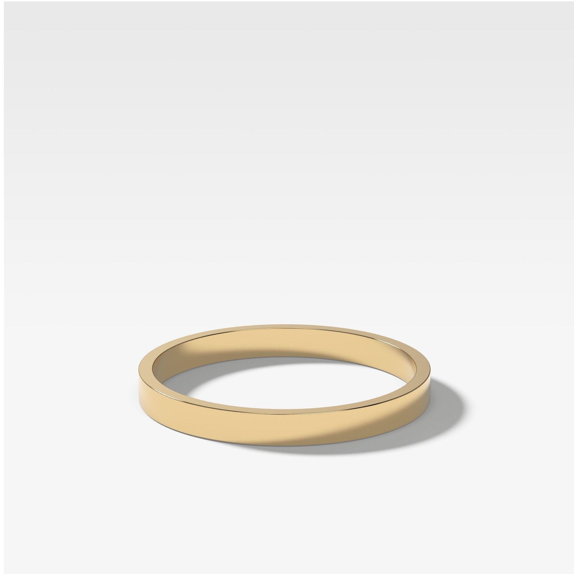 Finest Band (2Mm) In Yellow Gold By Good Stone